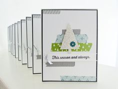 Stampin Up 10 cards in 20 minutes   Washi Tape Christmas Card photo