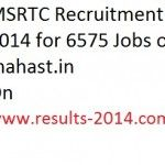 MSRTC Recruitment 2014 for 6575 Jobs on mahast.in