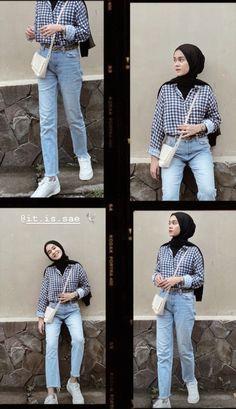Modest Fashion Hijab, Modern Hijab Fashion, Street Hijab Fashion, Casual Hijab Outfit, Hijab Fashion Inspiration, Ootd Hijab, Teen Fashion Outfits, Muslim Fashion, Casual Outfits