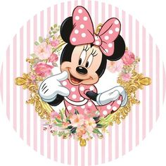 Minnie Mouse Stickers, Minnie Mouse Cupcake Toppers, Minnie Mouse Birthday Decorations, Minnie Mouse Theme Party, Minnie Birthday, Mickey Mouse E Amigos, Mickey E Minnie Mouse, Mickey Mouse And Friends, Minnie Mouse Pictures