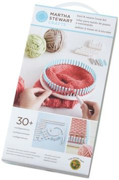 Martha Stewart Crafts Lion Brand Yarn Knit and Weave Loom Kit - Compact enough to take anywhere, the adjustable knit and weave loom kit makes knitting and weaving easy for both beginners and pros Loom Knitting Stitches, Loom Knitting Projects, Easy Knitting, Knifty Knitter, Yarn Projects, Knitting Needles, Loom Knitting For Beginners, Knitting Videos, Knitting Kits