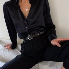 All black outfit womens minimalist monochrome fashion 16 best fall winter minimalist fashion fashiotopia fashion fashiotopia minimalist winter new Mode Monochrome, Monochrome Fashion, Monochrome Outfit, Nordic Fashion, Mode Outfits, Casual Outfits, Fashion Outfits, Womens Fashion, Fashion Ideas