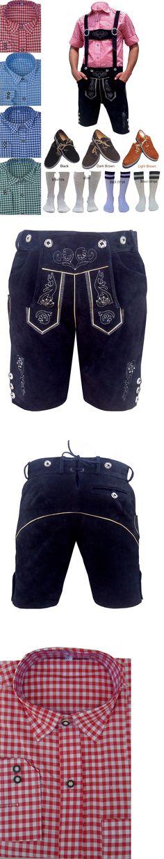 Lederhosen 163144: German Bavarian Oktoberfest Package Set Men Lederhosen, Shirt, Shoes, Socks -> BUY IT NOW ONLY: $118.5 on eBay!