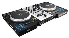 Hercules DJ DJ Control Air + S Series. Large jog wheels for a better DJing experience - Size similar to jog wheels on DJ CD players. Add fun to your mix with the AIR control - The contactless sensor lets you control the mix from above, without even touching the device, with 1-foot of range. Velocity pads to express your creativity - 4 velocity pads on each deck let you liven up your mixes; Instantly trigger sample playback or hot cues with one touch. Ergonomic design - Comfortable size:...