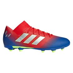 3c0fc8c1524e5 adidas Messi Nemeziz 18.3 FG Soccer Cleats Active Red Silver  Metallic Football Blue-