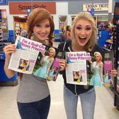 Real life elsa and anna find magazines of their cosplays