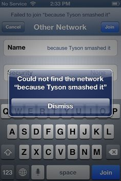 Percy Jackson humor... Why did you smash the network, Tyson????? Did it say something mean about Percy?