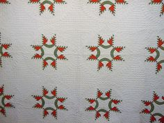 SMALL PIECES ANTIQUE FEATHERED STAR QUILT C1860 HAND QUILTED AND PIECED | eBay