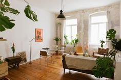 Judith Carnaby answers the door to her Kreuzberg flat wearing a romper patterned…