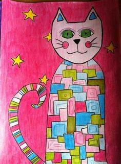 Pattern cats - pencil