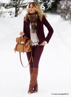 Great winter look that can be worn to many events