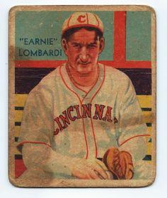 1934-1936 EARNIE LOMBARDI HALL OF FAMER
