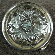 Vintage Sterling Silver Tape Measure with Elaborate Design