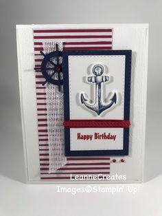 Nautical Birthday Card Sailing Home Bundle of Masculine Birthday Cards, Birthday Cards For Men, Handmade Birthday Cards, Masculine Cards, Greeting Cards Handmade, Male Birthday, Nautical Invitations, Nautical Cards, Nautical Logo