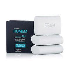 Sabonete Natura Homem > Produtos feitos para cuidar da sua pele diariamente.
