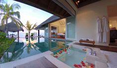 Exterior villa at Naladhu Maldives,  for more details visit www.voyagewave.com