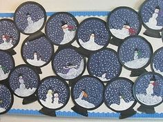 preschool winter crafts | Snowglobes | Preschool Winter Crafts