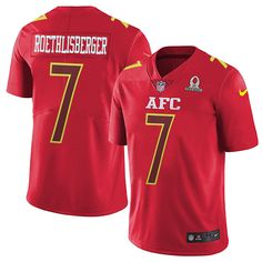 Nike Pittsburgh Steelers Men's #7 Ben Roethlisberger Limited Red 2017 Pro Bowl NFL Jersey