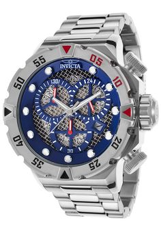 Invicta 19181 Watches,Men's I-Force Chronograph Stainless Steel Blue Dial, Sport Invicta Quartz Watches