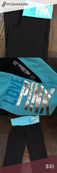 VS Pink Crop Leggings Sz M- great condition PINK Victoria's Secret Pants