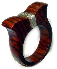 anillo-3-nivel Jewelry Rings, Jewelery, Ring Tutorial, Ring Pictures, Wood Rings, Woodcarving, Wooden Jewelry, Jewelry Making, Wedding Rings