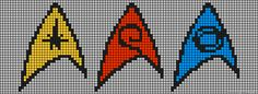 Star Trek Insignia Perler Bead Pattern from friendship-bracelets.net