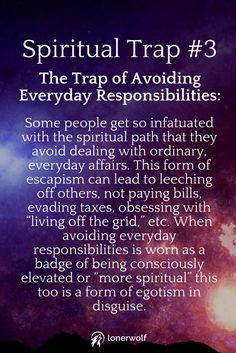 Don't fall into these traps hidden on the spiritual growth path.
