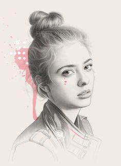 Inspired by Ramones by Evgeni Koroliov Portrait Au Crayon, Pencil Portrait Drawing, Portrait Sketches, Pencil Art, Drawing Sketches, Art Drawings, Pencil Sketching, Beautiful Pencil Drawings, Realistic Pencil Drawings