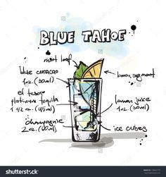 Hand Drawn Illustration Of Cocktail. Vector Collection. - 139041773 : Shutterstock