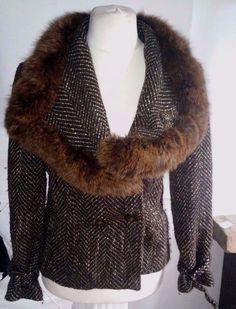#tumbrl#instagram#avito#ebay#yandex#facebook #whatsapp#google#fashion#icq#skype#dailymail#avito.ru#nytimes #i_love_ny     C&A YESSICA Drab coat with fox collar  FOX FUR SIZE UK 18 #CAYESSICA #BasicCoat