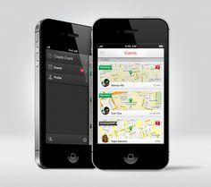 Hipvite - Mobile Interface - Creattica
