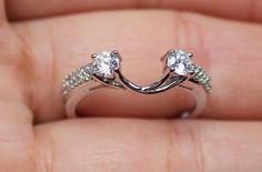 ZALES NEW 14K 1/2ct Diamond Solitaire Enhancer Ring Wrap Guard White Gold....... This is exactly what I want