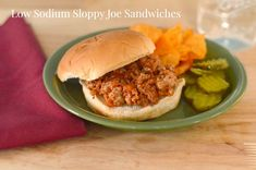 These heart-healthy Sloppy Joe Sandwiches are delicious and low in sodium