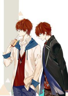 Mystic Messenger Characters, Mystic Messenger Fanart, Cute Anime Boy, Anime Guys, Seven Mystic Messenger, Luciel Choi, Saeran Choi, Images Kawaii, Anime Songs