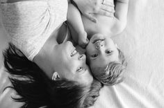 Carrie Geddie on Let the Kids: black and white image of mom and boy