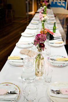 Mismatched plates..table set up ideas