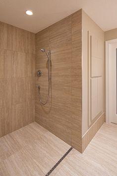 The Curb-Less Shower - contemporary - bathroom - minneapolis - Bond Tile & Stone