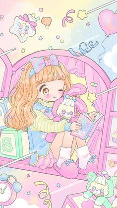 anime, art, baby, baby doll, baby girl, background, beautiful girl, cartoon, cute baby, design, drawing, fashion, illustration, illustration girl, kawaii, little girl, pastel, pink, sweet girl, sweet lolita, wallpapers, we heart it, loli, beautiful art
