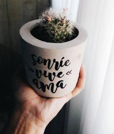 A imagem pode conter: planta Concrete Crafts, Concrete Projects, Succulent Pots, Planting Succulents, Diy Cement Planters, Cement Art, Pot Sets, Clay Pots, Flower Pots