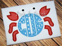 Made for Monogram Crab Applique Design Machine Embroidery INSTANT DOWNLOAD on…