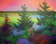 pine trees painting - Google Search