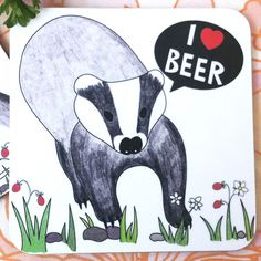 I Love Beer and Wine Coaster Set #beer #fathersday #giftideas