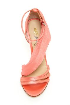 Coral chiffon wrap sandals - this would be so cute for a bridesmaid