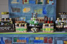 """This is a great idea for a dessert """"bar"""" at a party.  Especially cute for a kids party."""