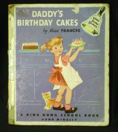 Daddy's Birthday Cakes Miss Frances Vintage Childrens Book  Free Shipping. $24.95, via Etsy.