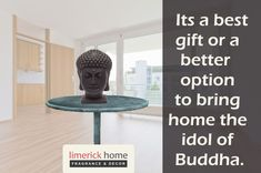 Enhance the beauty of your interiors with this elegant and attractive Buddha Face Figurine in Black Wax from LimerickHome. It's the best gift or a better option to bring home the idol of Buddha. Buy Now: