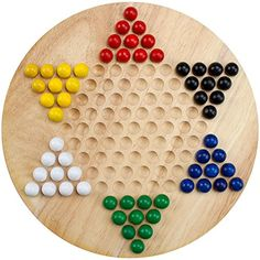 Ideas to make your own wooden board for Chinese Checkers.