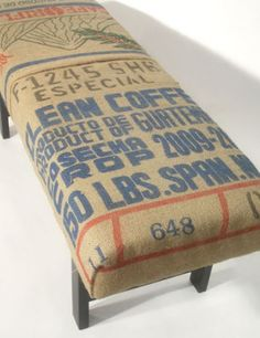 coffee sack bench. clayton, co.