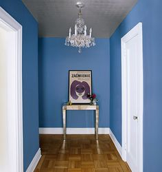 domino mag blue hallway: beautiful blue hallway...love this color , wonder what it is!