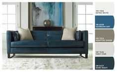 Tips That Help You Get The Best Leather Sofa Deal Modern blue leather sofa and . Tips That Help You Get The Best Leather Sofa Deal Modern blue leather sofa and gorgeous art work Blue Living Room Decor, Living Room Paint, Living Room Modern, Living Room Sofa, Living Rooms, Small Living, Living Area, Bedroom Sofa, Sofa Design